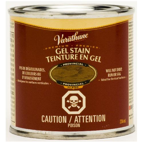 Teinture en gel pour l'intérieur Varathane Premium, à base d'huile, opaque, provincial, 236 ml