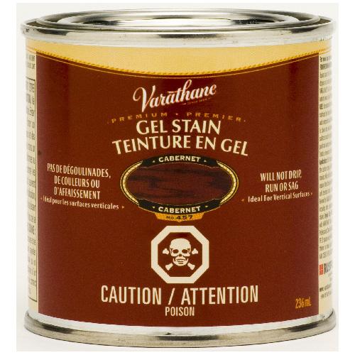 Teinture en gel pour l'intérieur Varathane Premium, à base d'huile, opaque, cabernet, 236 ml