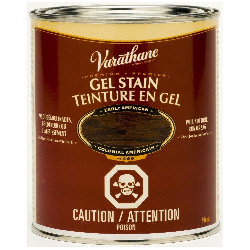 Teinture en gel pour l'intérieur Varathane Premium, à base d'huile, opaque, colonial américain, 946 ml
