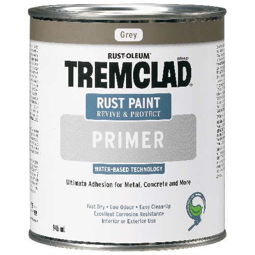 Tremclad - Antirust Primer, Water Base - 946 Ml - Grey