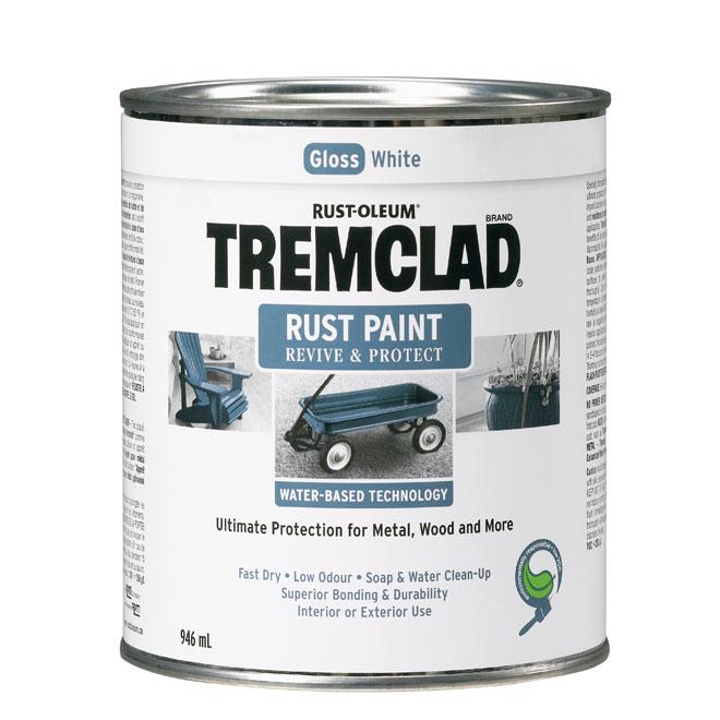 Tremclad - Antirust Paint - 946 ml - Gloss Finish - White