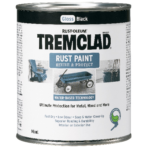 Tremclad - Antirust Paint - 946 ml - Gloss Finish - Black
