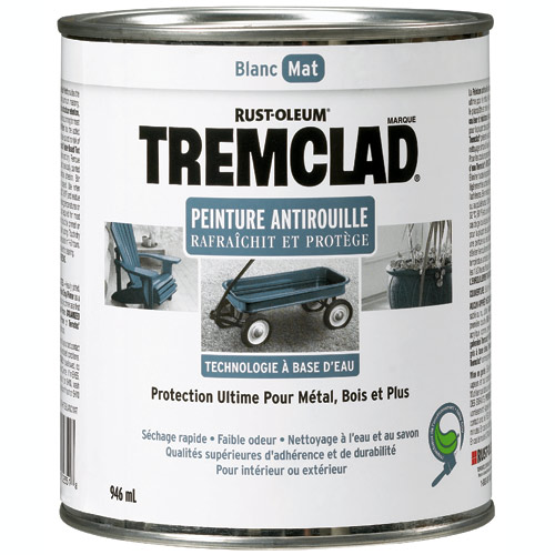 Peinture antirouille, Tremclad, 946 ml, fini mat, blanc