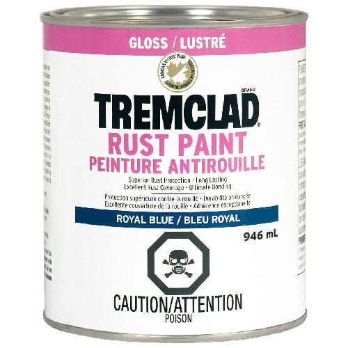 Peinture antirouille Tremclad, 946 ml, bleu royal, fini lustré