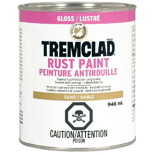 Tremclad Antirust Paint - 946 ml - Sand - Gloss Finish