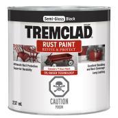 Tremclad - Antirust Paint - 237 mL - Semi-Gloss Finish - Black