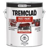 Tremclad - Antirust Paint - 3.78 L - Semi-Gloss Finish - Black