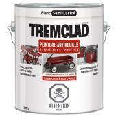 Peinture antirouille, Tremclad, 3,78 l, fini semi-lustré, blanc