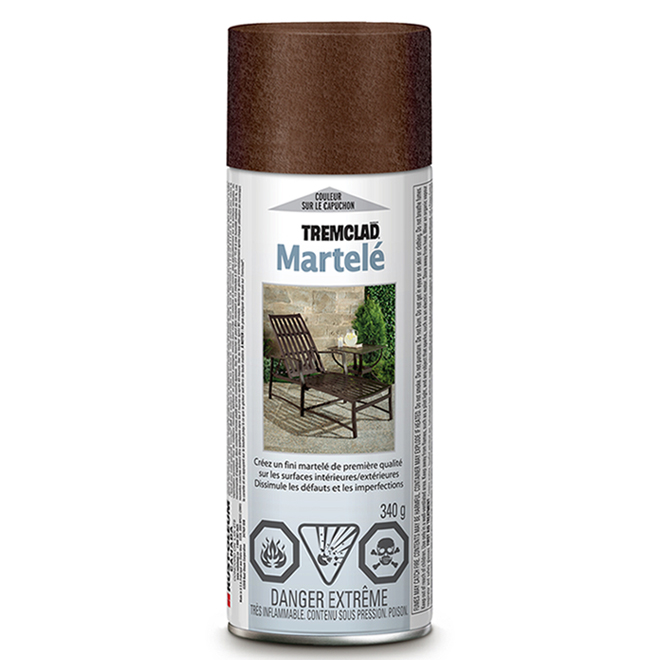 Tremclad - Antirust Paint - 340 g - Hammered Finish - Brown