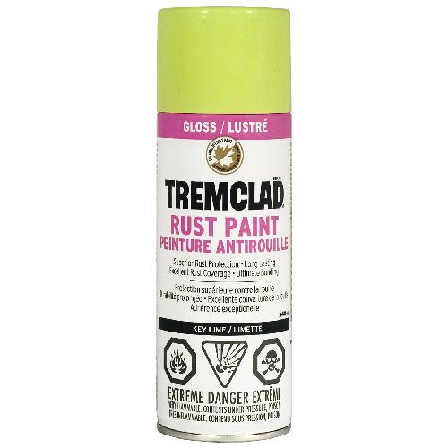 Peinture antirouille en aérosol Tremclad, 340 g, limette, lustré