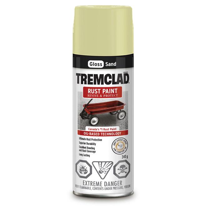 Tremclad Rust Spray Paint - 340 g - Sand - Gloss