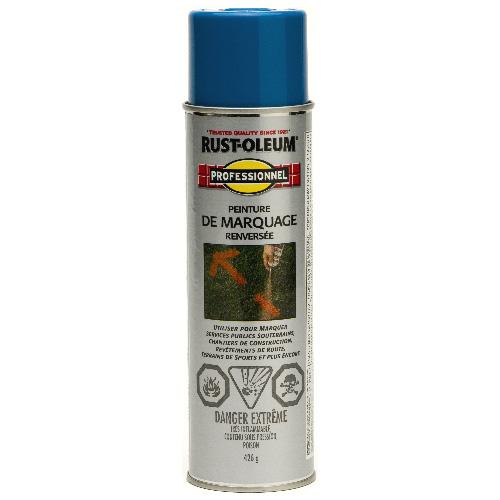 Peinture de marquage en aérosol Rust-Oleum, renversé, 426 g, bleu