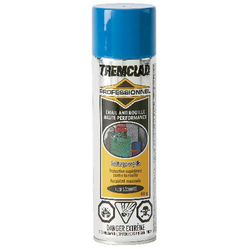 Émail antirouille haute performance Tremclad, 426 g, fini lustré, bleu sécurité