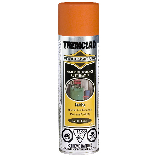 Tremclad High Performance Rust Enamel - 426 g - Gloss Finish - Safety Orange