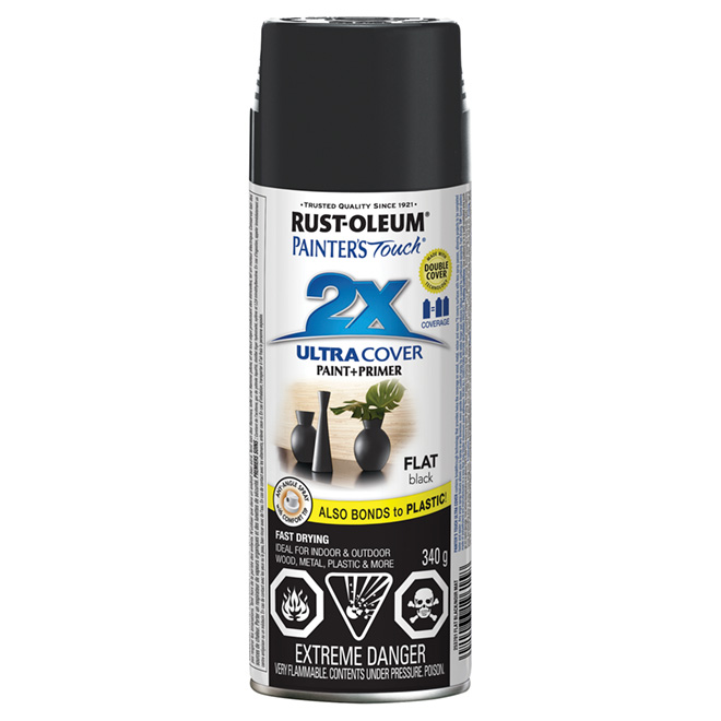 Ultra Cover 2X Spray Paint - Interior/Exterior - 340 g - Flat Black
