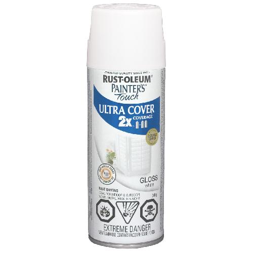 Ultra Cover 2X Spray Paint - Interior/Exterior - 340 g - Gloss White