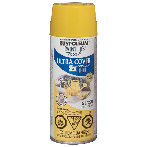 Ultra Cover 2X Spray Paint - Interior/Exterior - 340 g - Gloss Sun Yellow