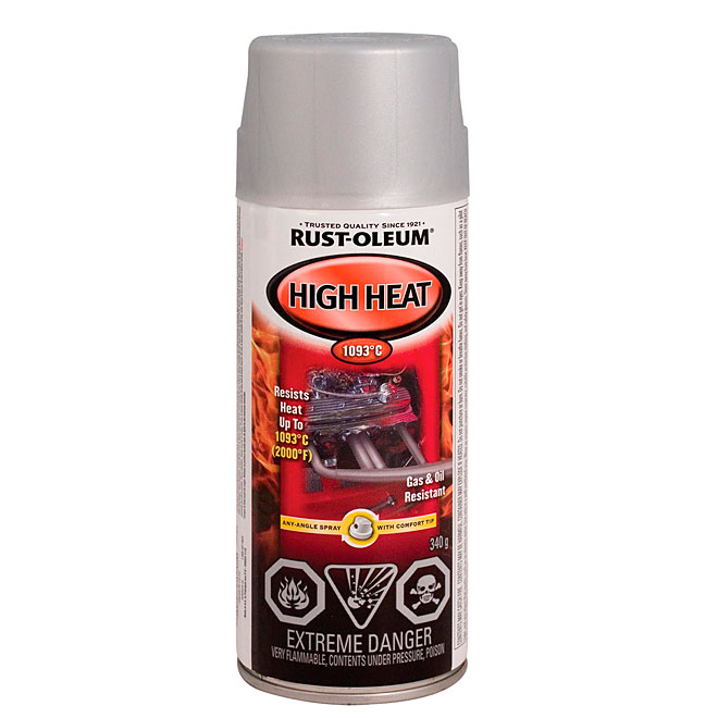 Automotive High Heat Spray Paint 340g - Flat aluminum