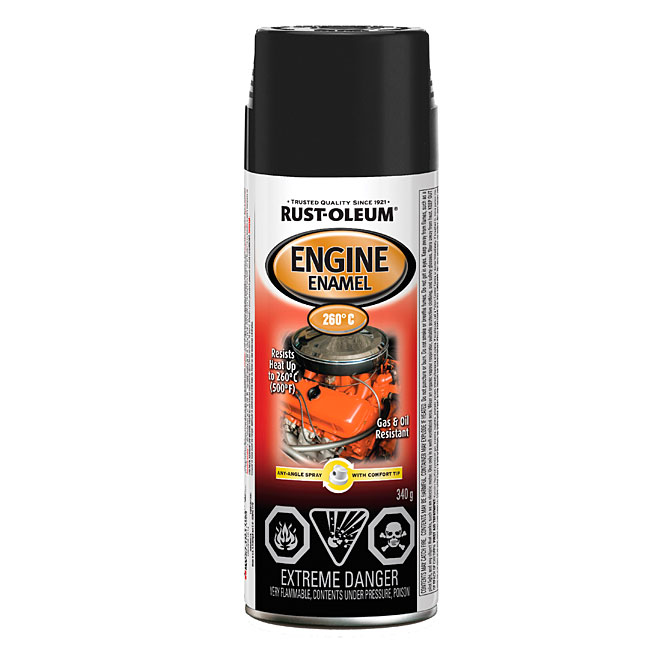 RUST-OLEUM Engine High Heat Spray Paint 340g - Gloss Black
