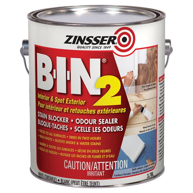 Zinsser B-I-N 2(R) Stain-Blocker Primer - 3.78 L - White