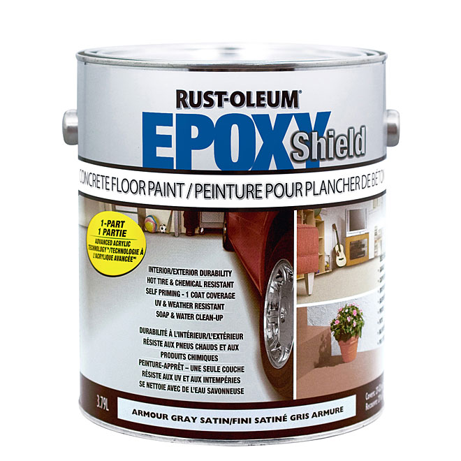 Peinture pour plancher de béton, Rust-Oleum, acrylique, 3,79 l, fini satiné