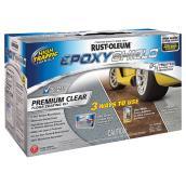 Rust-Oleum EpoxyShield Indoor Premium Floor Coating Kit - High-Gloss - Clear - 2.66 L