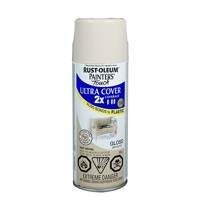 Ultra Cover 2X Spray Paint - Interior/Exterior - 340 g - Almond - Gloss