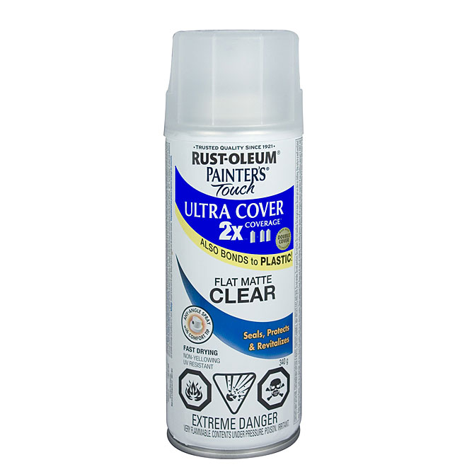 Ultra Cover 2X Spray Paint - Interior/Exterior - 340 g - Clear - Flat