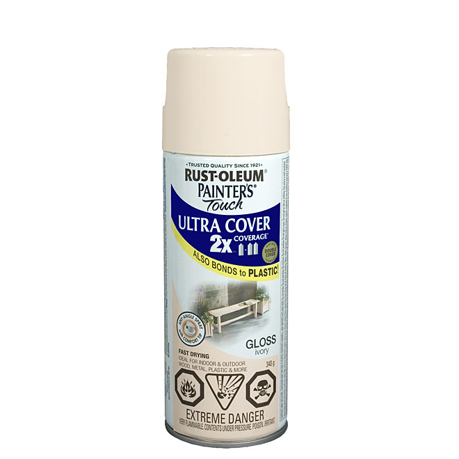 Ultra Cover 2X Spray Paint - Interior/Exterior - 340 g - Ivory - Gloss