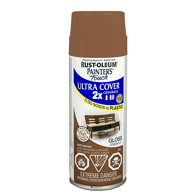 Ultra Cover 2X Spray Paint - Interior/Exterior - 340 g - Chestnut - Gloss