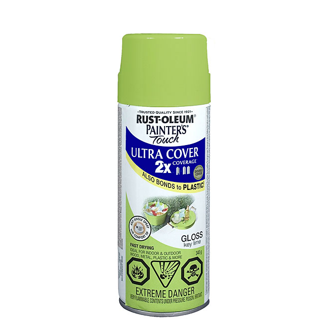 Ultra Cover 2X Spray Paint - Interior/Exterior - 340 g - Key Lime - Gloss