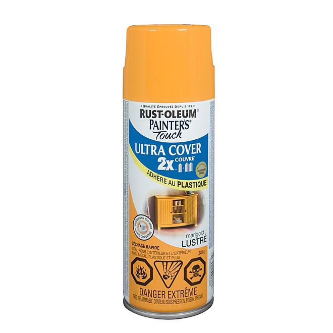 Peinture en aérosol Ultra Cover 2X, intérieur/extérieur, 340 g, marigold, lustré