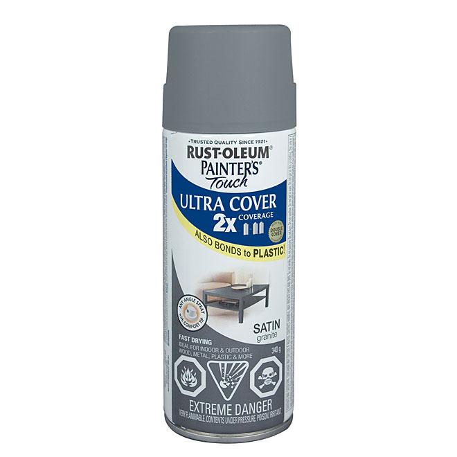 Ultra Cover 2X Spray Paint - Interior/Exterior - 340 g - Granite - Satin