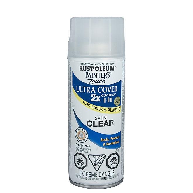 Ultra Cover 2X Spray Paint - Interior/Exterior - 340 g - Clear - Satin