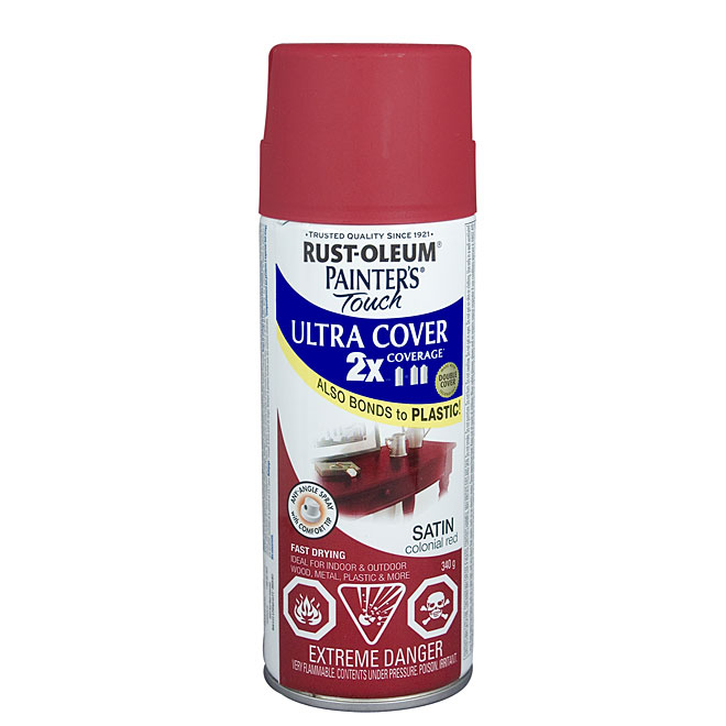 Ultra Cover 2X Spray Paint - Interior/Exterior - 340 g - Colonial Red - Satin