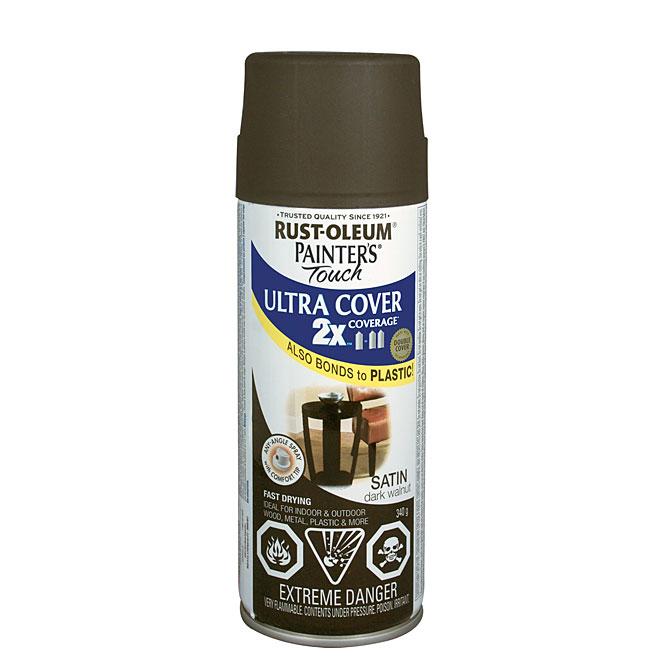 Ultra Cover 2X Spray Paint - Interior/Exterior - 340 g - Dark Walnut - Satin