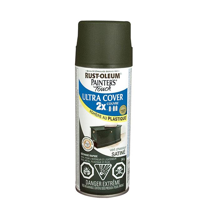 Peinture en aérosol Ultra Cover 2X, intérieur/extérieur, 340 g, vert chasseur, satiné