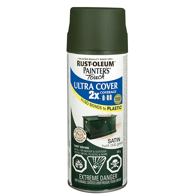 Ultra Cover 2X Spray Paint - Interior/Exterior - 340 g - Hunt Club Green - Satin