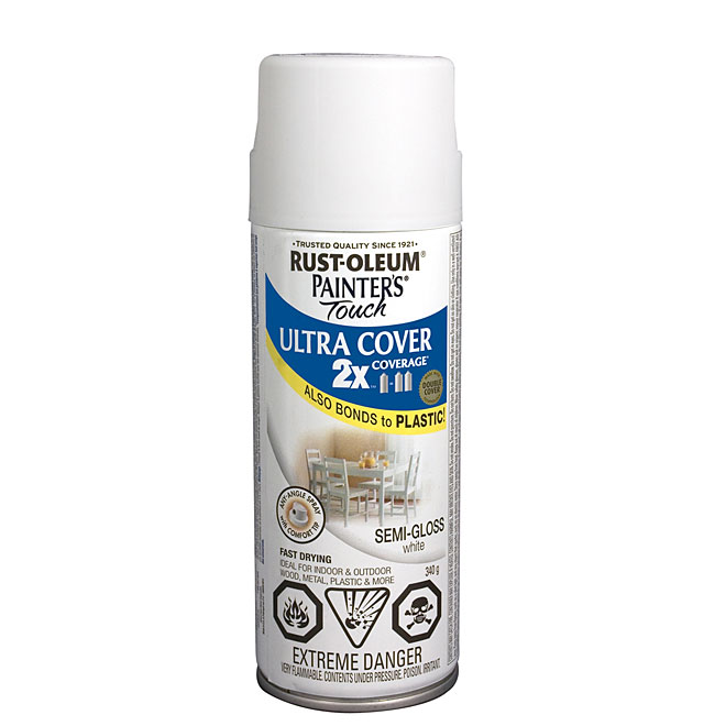 Ultra Cover 2X Spray Paint - Interior/Exterior - 340 g - White - Semi-Gloss