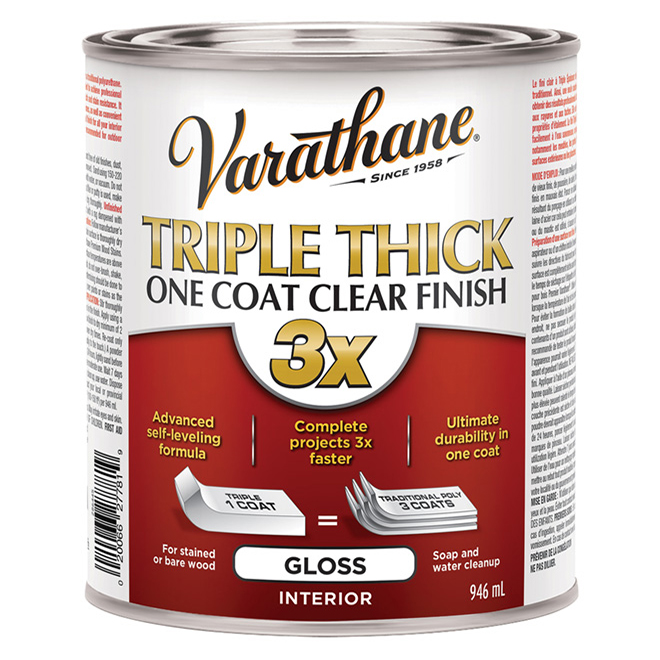 Triple Thick One Coat  Finish - Wood - 946 ml - Clear Gloss