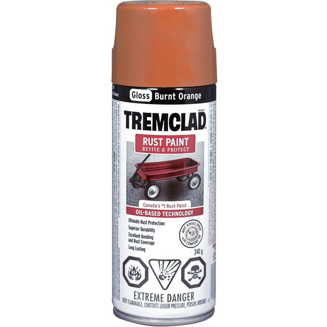 Tremclad - Rust Paint - 340 g - Gloss Finish - Burnt Orange