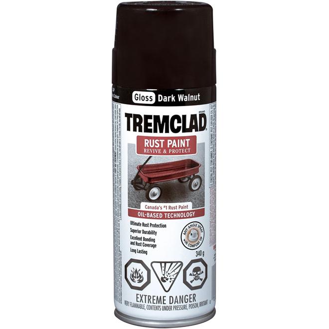 Tremclad - Rust Paint - 340 g - Gloss Finish - Dark Walnut