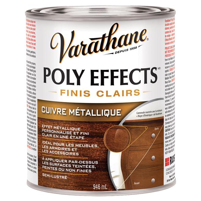 Vernis Poly Effects, semi-lustré, cuivre métallique