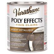 Vernis Poly Effects, semi-lustré, argent métallique