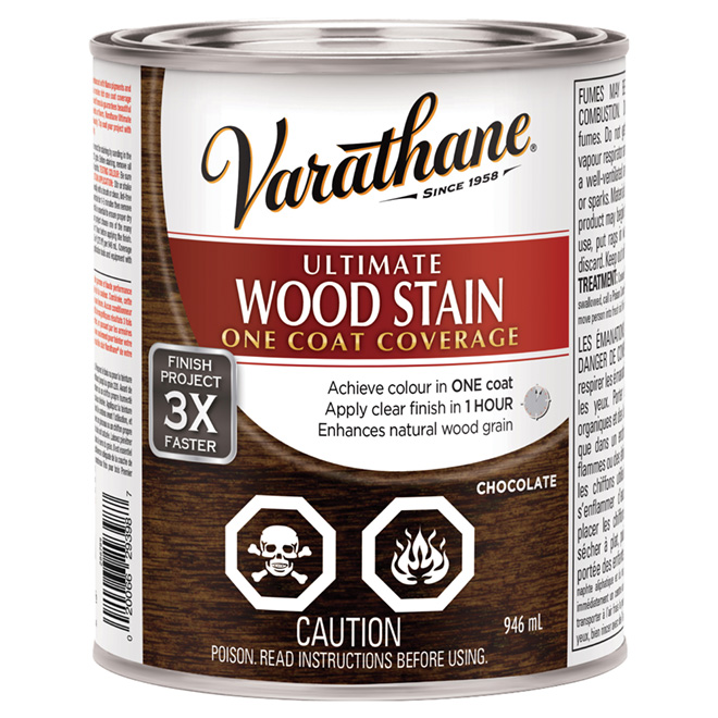 946 mL Ultimate Wood Stain Chocolate