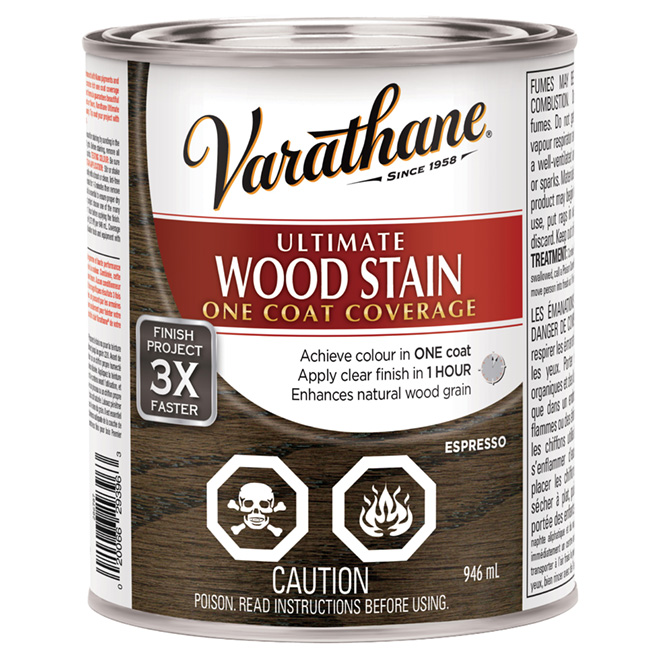 """Ultimate"" One-Coat Wood Stain - Espresso"