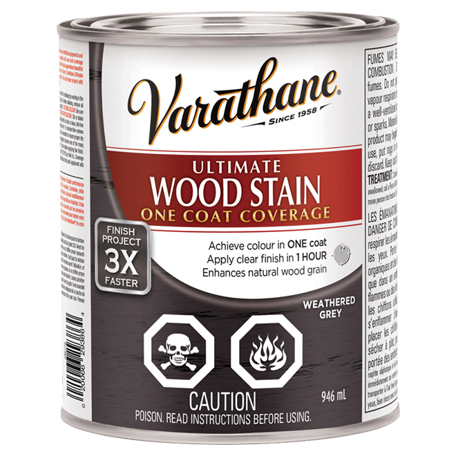 """""""Ultimate"""" One-Coat Wood Stain - Weathered Grey"""