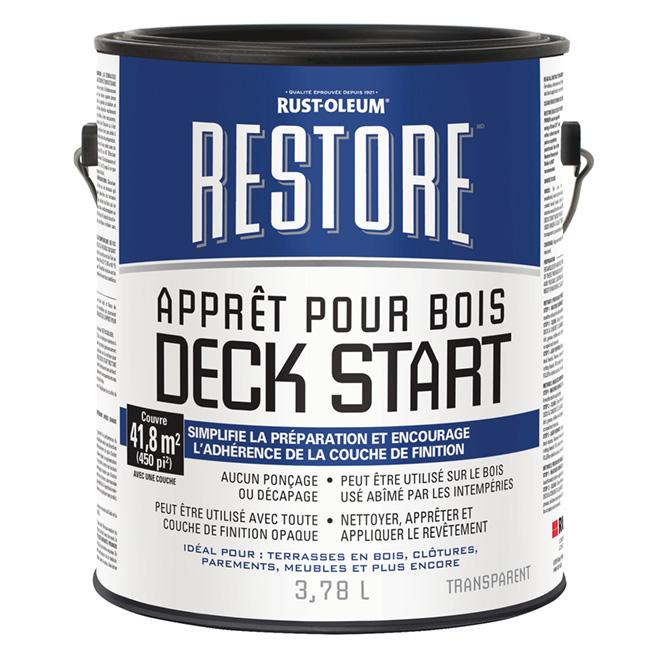 Apprêt pour bois Restore Deck Start, 3,78 l, clair