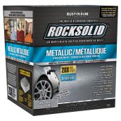 """RockSolid"" Metallic Floor Coating Kit, Silver Bullet, 2.07L"