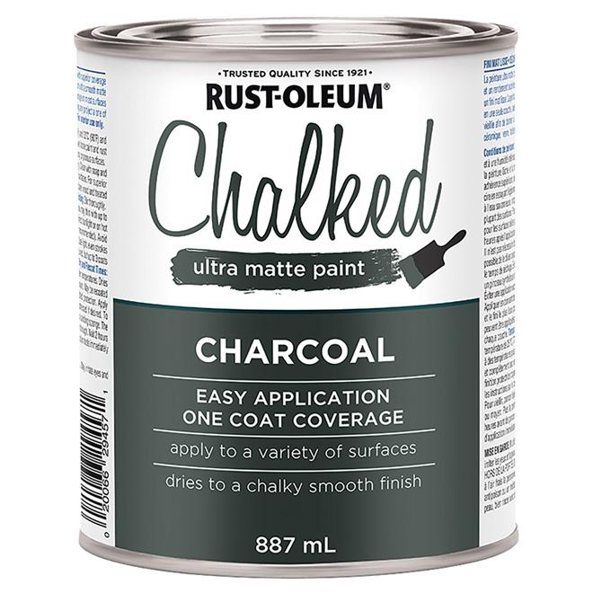 Rust-Oleum Chalked Ultra-Matte Paint - Latex - 887 ml - Charcoal